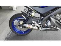 Akrapovic full exhaust system for yzf r125 14-18