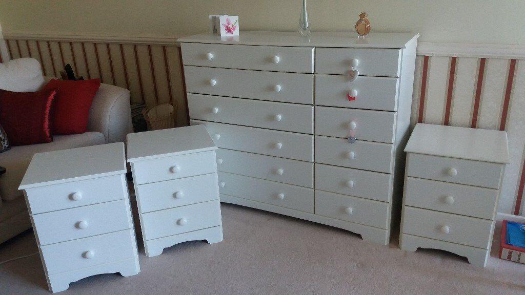 Bedside Cabinets - White