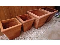 Terracotta Planters - matching set of 4