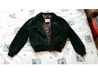Vintage green suede jacket men's size XXL