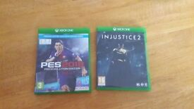 Pes 2018 & injustice 2 xbox one games