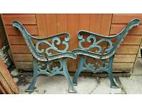 Cast iron bench ends!