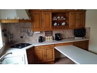 Kitchen Cabinets, French Ash Solid Wood doors, worktops and sink. 2HC