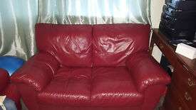 Red 5 seater sofa