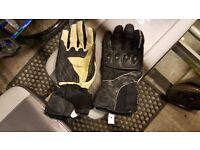 XL Frank Thomas motorcycle leather gloves
