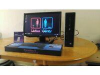 HP I3 Home & Business PC Desktop Computer & LG 19 Widescreen