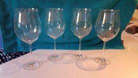 DARTINGTON CRYSTAL 'GRAND CRU' WINE GLASSES - 4 UNUSED!