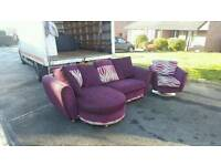 Beautiful corner group sofa + swival chair £295 delivered