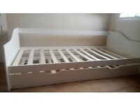 Single bed with pull out guest bed white wood bargain.