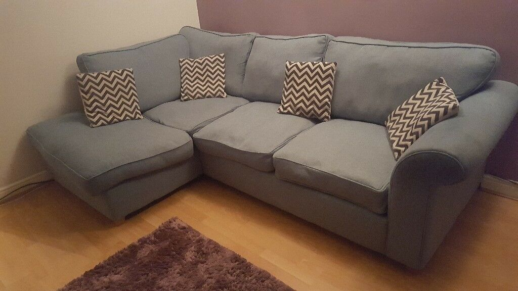 Dfs Blue Right Hand Angelic Corner Sofa In Killamarsh