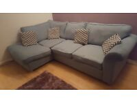 DFS Blue Right-Hand Angelic corner sofa