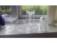 6 beautiful cut glass pieces