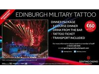 Edinburgh Military Tattoo Dinner Package from £60 various dates available
