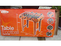 Table Football Game set new never used size 37cm wide x 69cm length x 62cm high