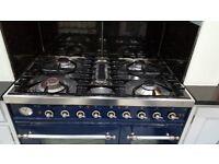 BRITANNIA DUEL FUEL MULTI FUNCTION RANGE COOKER 900X610X800 HIGH - BLUE - CAST IRON