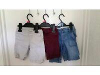 3 pairs of boys shorts aged 2-3