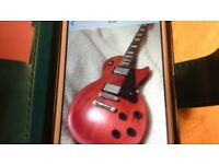 Cherry red les paul studio guitar 2011 - immaculate condition with Marsall amp