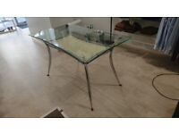Glass top display table - very good condition