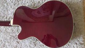 Epiphone Emperor Swingster hollowbody guitar, Wine, inc hard case