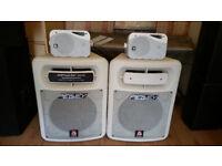 Peavey Impulse1012 Speakers 1000-2000 Watt each+E Audio Background 160 Watt each+ Stands