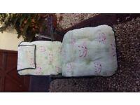 2 Garden patio relaxer chairs, 4 position