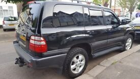 2003 Toyota Landcruiser VX Amazon Auto 4.7 V8 Petrol w LPG 4x4 - Leather, Sat Nav, Bluetooth, MOT