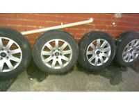 4 aluminium complete wheels and tyres 15 inch ready to use
