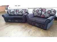 KANSAS HAND MADE 3+2 FABRIC SOFA IN HIGH QUALITY SPRING BASE AND FIRM FOAM SEATS BRAND NEW £399