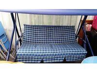 Blue Swing Bench