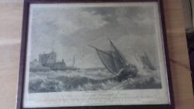 Old print of an etching