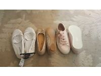 Size 5 Selection of holiday shoes, trainers and pumps