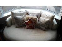 Leather/soft cover sofa