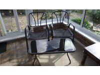 small table with glass top and 2 chairs no cushions, suitable for conservatory FREE.