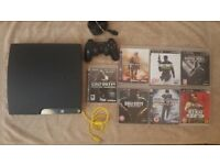 SONY PS3 SLIM 120GB CONSOLE + 1 CONTROLLER + 7 GAMES