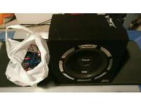 "Vibe 12"" inch subwoofer. All cables included."