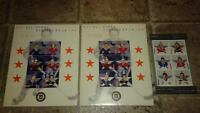 2002 NHL all star 3 souvenir stamp sheets canada post