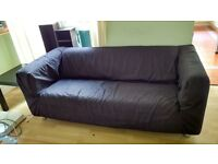 Ikea Klippan Sofa with black washable cover