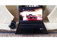 17.3 LED Wide Screen (1600 × 9000) Graphics laptop, 4GB DDR3 RAM, Office 2013, Photoshop CS6, Win 10