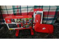 Limited edition Red Nintendo Switch with Official Case and Screen Protector. NO GAME.