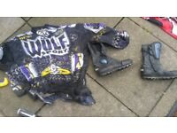 Size 9 motorbike boots +free top £10