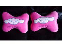 Brand new Cinnamoroll big ears dog 2 pcs car Neck Rest Cushions Head Pillows