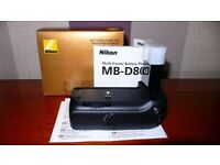 Nikon MB-D80 battery grip, NEW, UNUSED. Fits Nikon D80 and D90 DSLR cameras only.