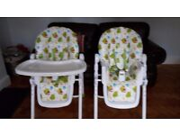 Mothercare highchairs x2