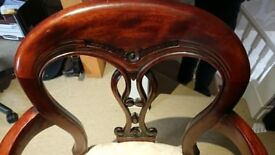 Pair of Mahogany coloured chairs