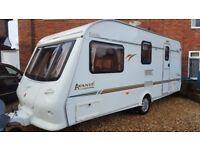 Elddis avante 4berth caravan full awning