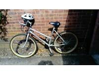 Apollo obsession ladies mountain bike with helmet recently serviced