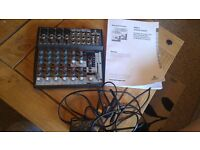 Behringer xenyx 1002fx mixer comes with manual used for live vocals /recording