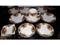 10 pieces royal albert old country rises bone china
