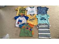 Bundle of 8 tee shirts in great condition age 9-12 months