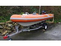 Avon SR4.7 searider rib boat Mercury 60hp 4 stroke outboard